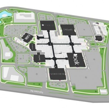 Plan of mall The Village at Southpark