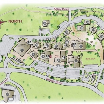 Plan of mall The Village at Sunriver