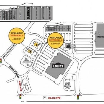 Plan of mall Tilden Ridge Shopping Center