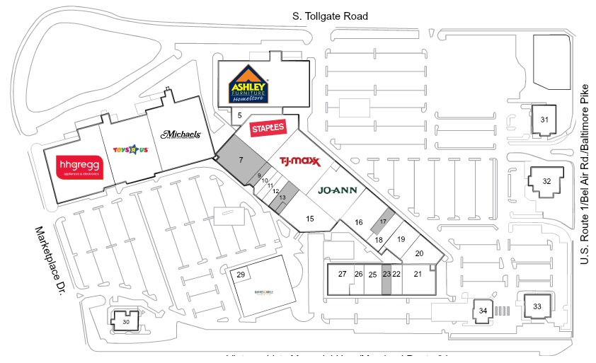Tollgate Marketplace Store List Hours Location Bel