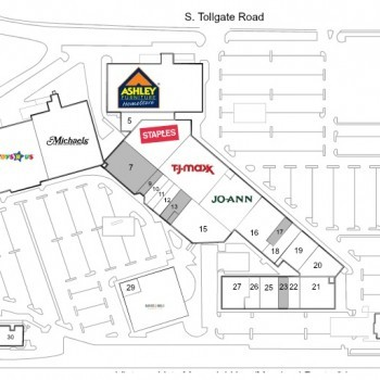 Ashley Furniture In Tollgate Marketplace   Store Location Plan