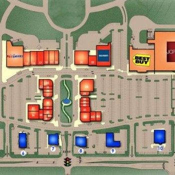 Plan of mall Town Center Plaza