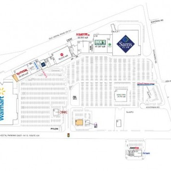 Plan of mall Town Square Mall