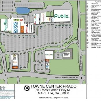 Plan of mall Towne Center Prado