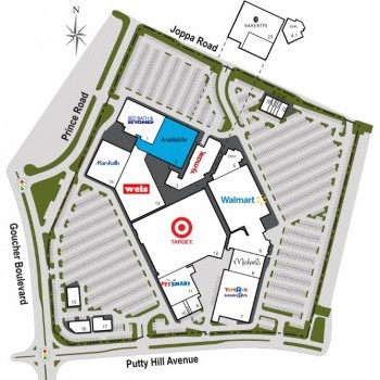Plan of mall Towson Place