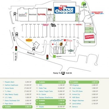 Plan of mall Tri-City Plaza Shopping Center