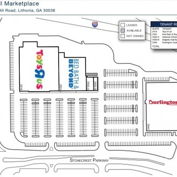 Plan of mall Turner Hill Marketplace