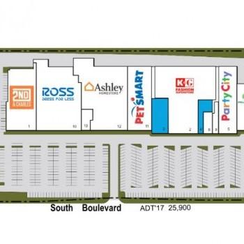 Plan of mall Tyvola Mall