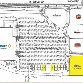 Plan of mall Village at Red Bridge