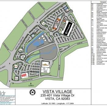 Plan of mall Vista Village