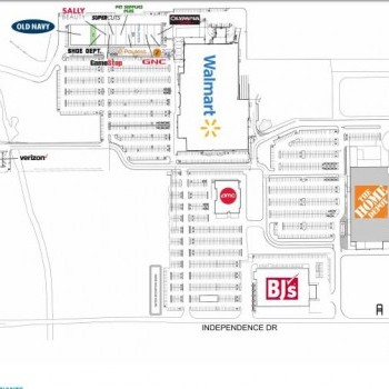 Plan of mall Walmart Plaza