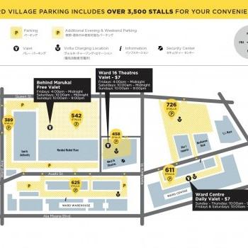 Plan of mall Ward Village