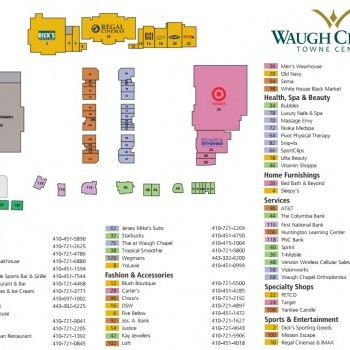 Plan of mall Waugh Chapel Towne Centre