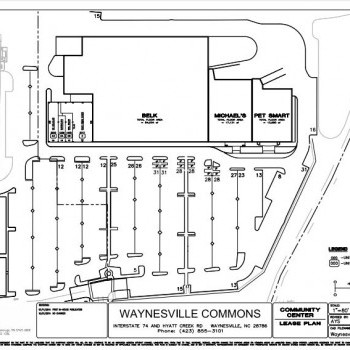 Plan of mall Waynesville Commons