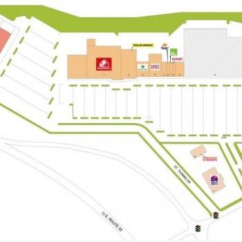 Plan of mall Weirton Plaza