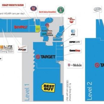 Plan of mall West Hollywood Gateway