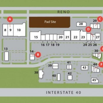 Plan of mall Westgate Marketplace