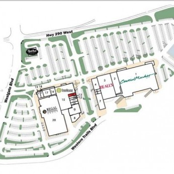 Plan of mall Westgate Shopping Center