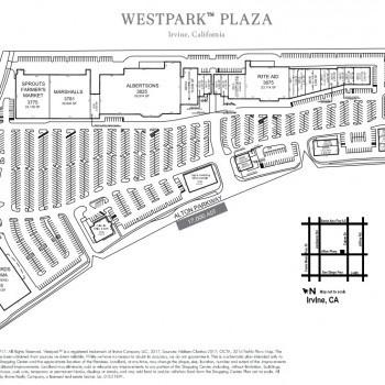 Plan of mall Westpark Plaza Shopping Center