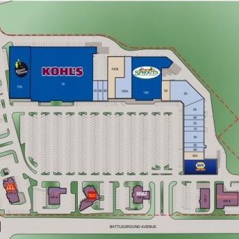 Plan of mall Westridge Square Shopping Center