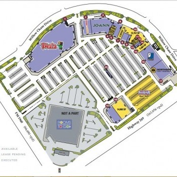 Plan of mall Willowchase Shopping Center