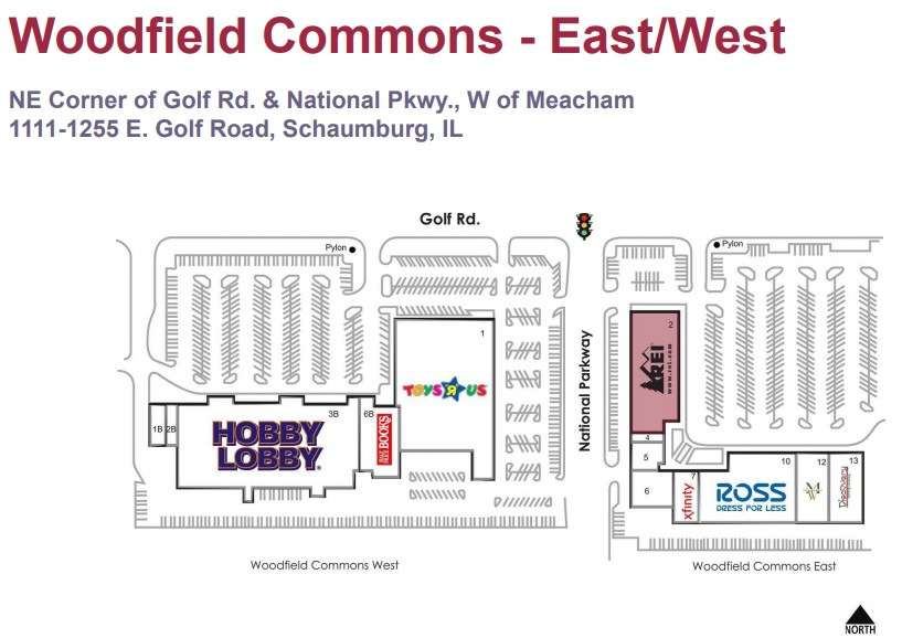 Woodfield Commons East - West - store list, hours, (location