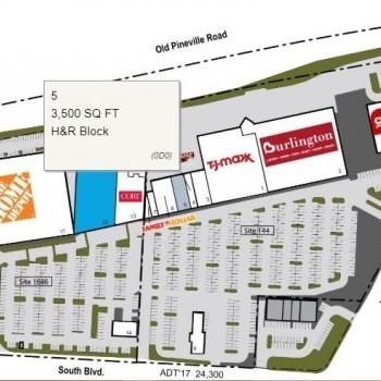 Plan of mall Woodlawn Marketplace