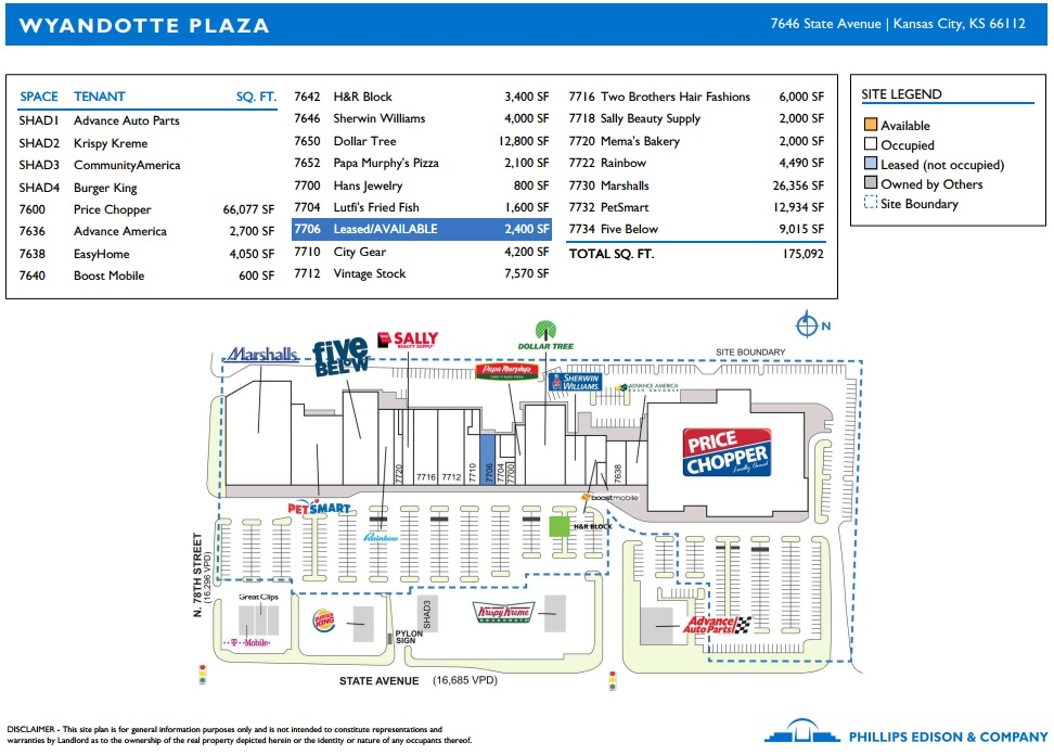 Wyandotte Plaza - store list, hours, (location: Kansas ...