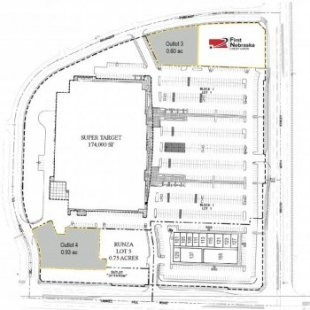 Plan of mall Yankee Ridge Shopping Center